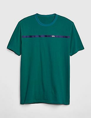 GAP Men Green Original Logo Crewneck T-Shirt