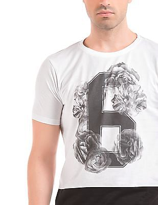 Colt Numeric Print Colour Block T-Shirt