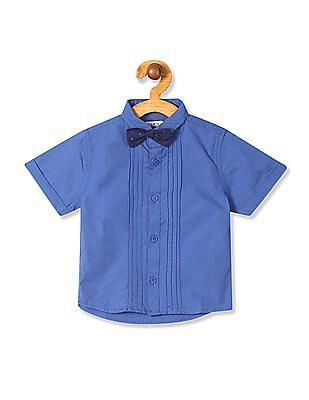 Donuts Boys Bow Tie Pintuck Shirt