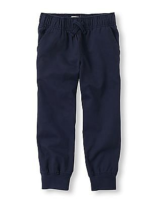 The Children's Place Boys Solid Woven Joggers