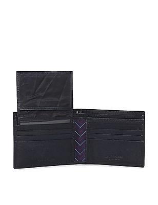 Arrow Sports Blue Leather Bi-Fold Wallet