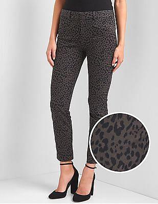 GAP Women Grey Bi-Stretch Skinny Ankle Pants