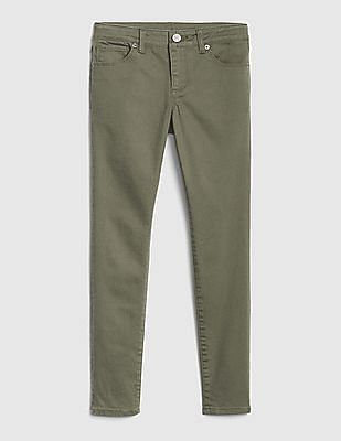 GAP Green Girls Super Skinny Jeans with Fantastiflex