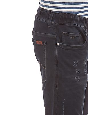 Ed Hardy Lightly Distressed Mid Rise Jeans