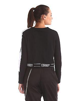 EdHardy Women Printed Cropped Sweatshirt