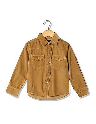 Cherokee Boys Corduroy Long Sleeve Shirt