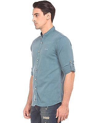 Cherokee Mandarin Collar Regular Fit Shirt