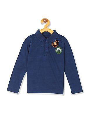 Cherokee Boys Long Sleeve Polo Shirt