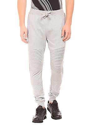 Flying Machine Tucked Cotton Joggers