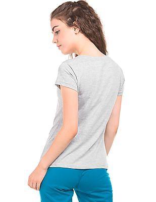 SUGR Melange V-Neck T-Shirt