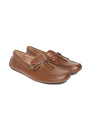 Johnston & Murphy Burnished Leather Loafers