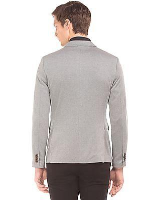 Arrow Patterned Single Breasted Blazer