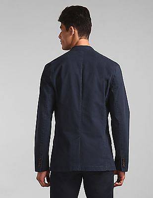 GAP Men Blue Casual Classic Blazer In Stretch