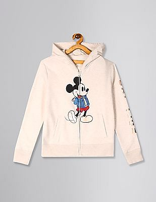 GAP Beige Girls Disney Mickey Mouse Hoodie Sweatshirt