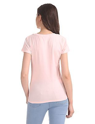 SUGR Printed Front Round Neck T-Shirt