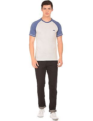 Cherokee Raglan Sleeve Colour Block T-Shirt