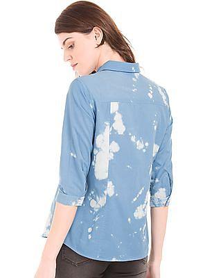 Cherokee Cloud Print Cotton Shirt
