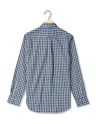 Gant Tech Prep Oxford Check Regular Fit Hidden Button Down Shirt