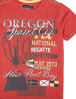 Cherokee Boys Printed Regular Fit T-Shirt