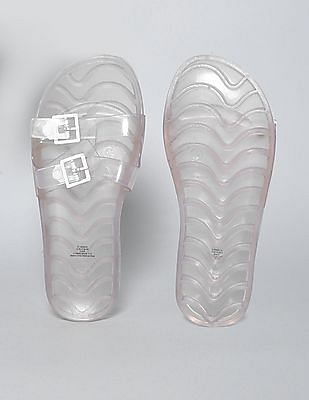 GAP Girls Silver Jelly Slide Sandals