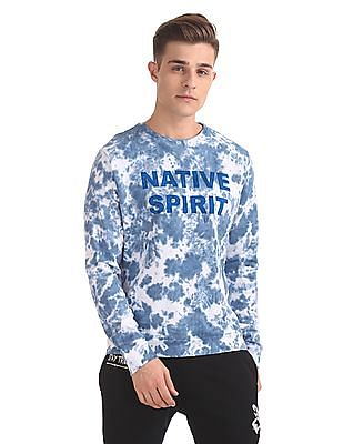 Flying Machine Long Sleeve Tie And Dye Sweatshirt