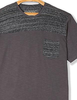 Cherokee Heathered Panel Short Sleeve T-Shirt