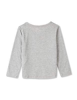 GAP Girls Grey Festive Graphic Sleep Tee