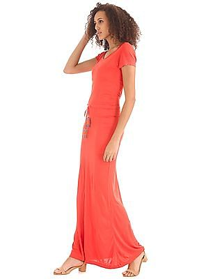Elle Tie Up Waist Maxi Dress