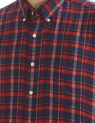 Gant Bleecker Twill Check Long Sleeve Button Down Shirt