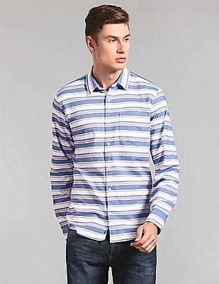 GAP Slim Fit Striped Stretch Oxford Shirt