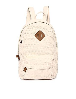SUGR Patterned Weave Cotton Backpack
