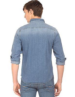 Aeropostale Stone Wash Denim Shirt