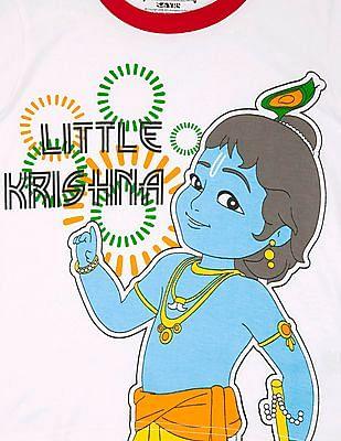 Colt Boys Krishna Print Short Sleeve T-Shirt