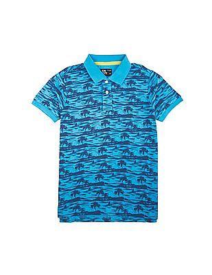 FM Boys Printed Polo Shirt