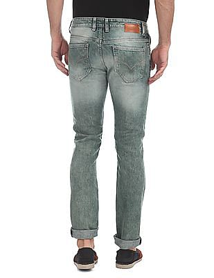 Flying Machine Super Slim Tapered Fit Mid Rise Jeans