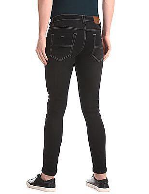 Newport Black Mid Rise Skinny Fit Jeans