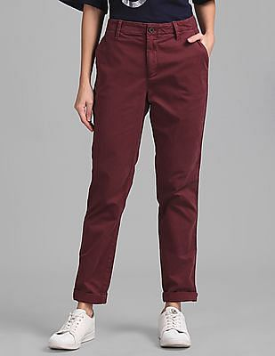 GAP Girlfriend Twill Stripe Chinos in Color