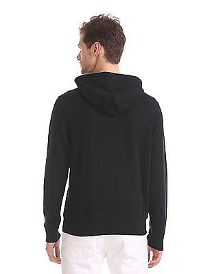 U.S. Polo Assn. Black Front Print Hooded Sweatshirt