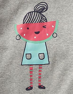 GAP Baby Grey Watermelon Short Sleep Set