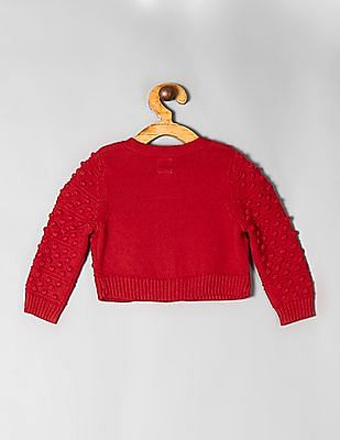 GAP Red Baby Bobble Cardigan