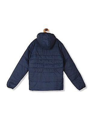 FM Boys Blue Boys Hooded Printed Jacket