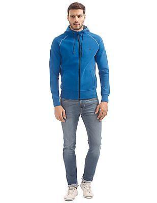 Gant Hooded Zip Up Sweatshirt