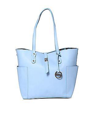 U.S. Polo Assn. Women Twist Lock Solid Tote Bag