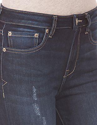 Aeropostale Mid Rise Rip And Repair Jeans