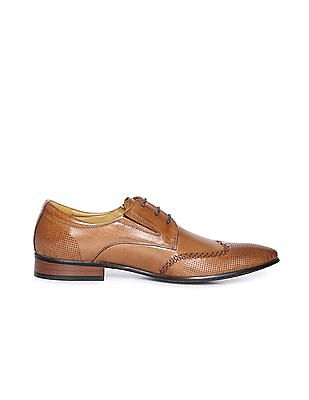 Arrow Wingtip Perforated Leather Derby Shoes