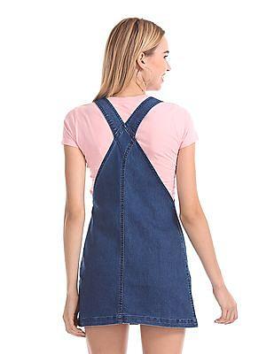 Aeropostale Washed Dungaree Skirt
