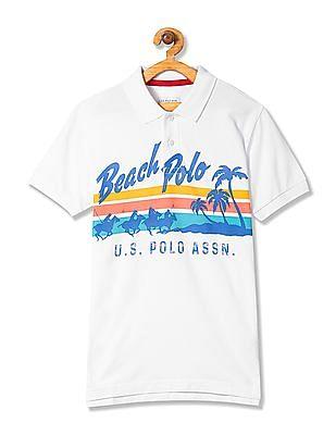 U.S. Polo Assn. Kids Boys Graphic Print Polo Shirt