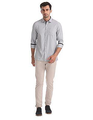 Excalibur Cutaway Collar Patterned Shirt