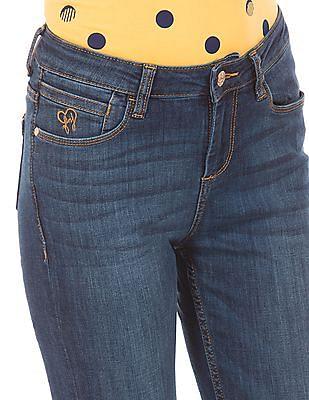 Flying Machine Women Stone Wash Skinny Fit Jeans