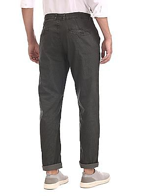 Cherokee Grey Slim Fit Printed Trousers